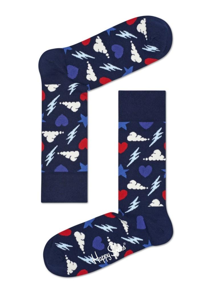 מוצרי Happy Socks לנשים Happy Socks Storm - כחול כהה