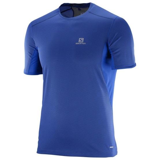 ביגוד סלומון לגברים Salomon Trail Runner SS - כחול