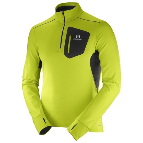 ביגוד סלומון לגברים Salomon Trail Runner Warm Mid - צהוב