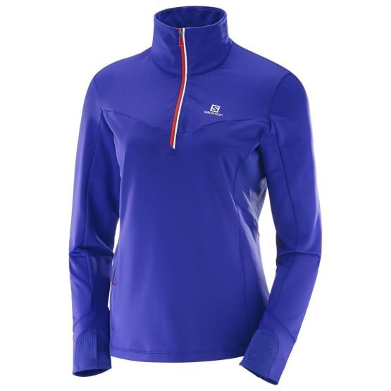 ביגוד סלומון לנשים Salomon Trail Runner Warm Mid - כחול