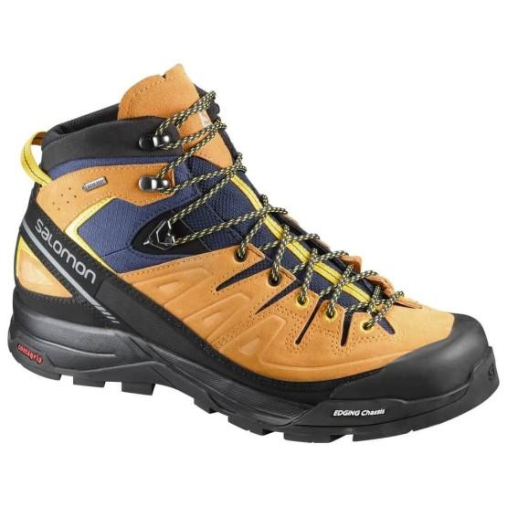 נעלי טיולים סלומון לנשים Salomon X Alp Mid LTR GTX - חום בהיר