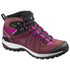 נעלי טיולים סלומון לנשים Salomon Ellipse 2 Mid LTR GTX - בורדו