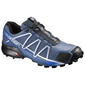 נעליים סלומון לגברים Salomon Speedcross 4 - כחול/לבן