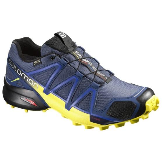 נעלי טיולים סלומון לגברים Salomon Speedcross 4 GTX - כחול כהה