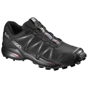 נעלי טיולים סלומון לגברים Salomon Speedcross 4 - שחור מלא