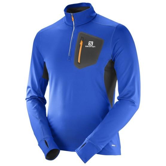 ביגוד סלומון לגברים Salomon Trail Runner Warm Mid - כחול