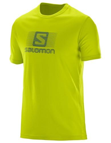 ביגוד סלומון לגברים Salomon Blend Logo SS TEE - ירוק בהיר