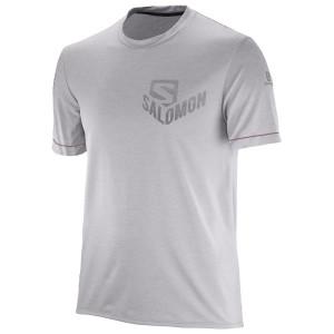 מוצרי סלומון לגברים Salomon Pulse SS TEE - אפור