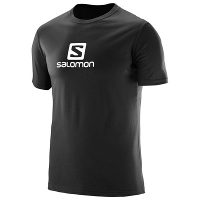ביגוד סלומון לגברים Salomon Coton Logo SS TEE - שחור