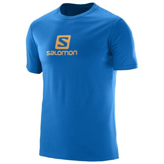 ביגוד סלומון לגברים Salomon Coton Logo SS TEE - כחול