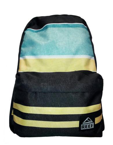 תיקי גב ריף לנשים Reef Moving On Backpack - שחור/צהוב