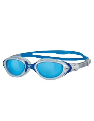 משקפי צלילה זוגס לנשים Zoggs Predator Flex - כחול/לבן