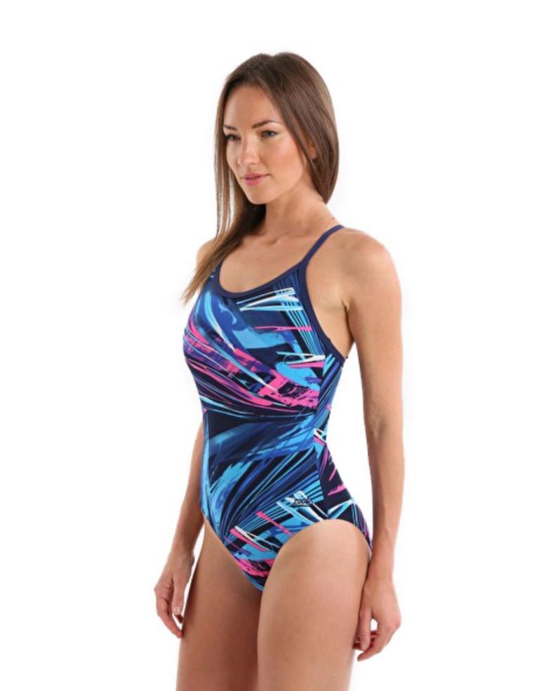 בגדי ים זוגס לנשים Zoggs Aurora Sprintbk - צבעוני כהה