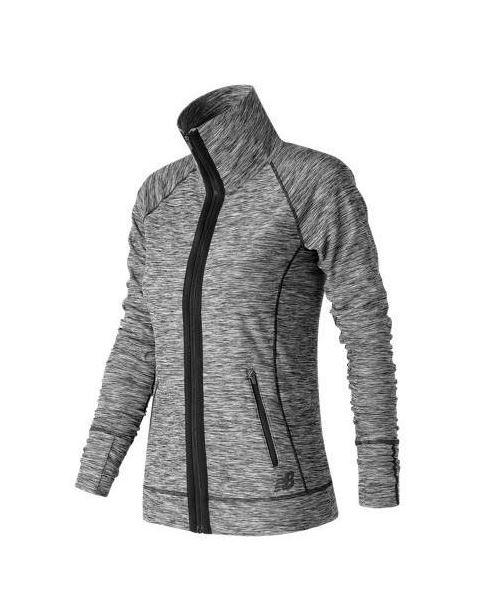בגדי חורף ניו באלאנס לנשים New Balance In Transit Jacket - אפור
