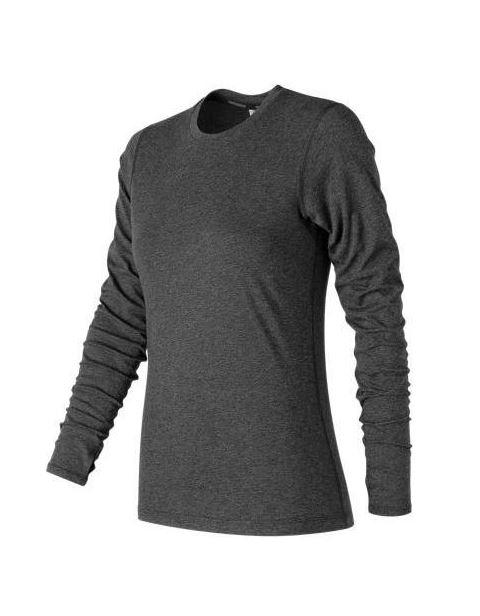 מוצרי ניו באלאנס לנשים New Balance Heather Tech Long Sleeve - שחור
