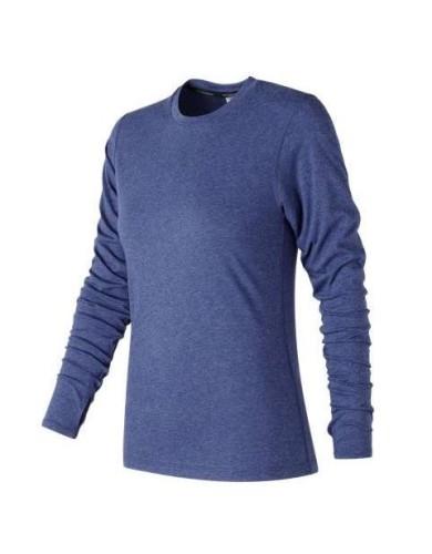 מוצרי ניו באלאנס לנשים New Balance Heather Tech Long Sleeve - כחול