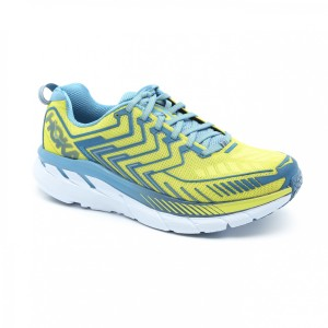 נעליים הוקה לגברים Hoka One One Clifton 4 - תכלת/צהוב