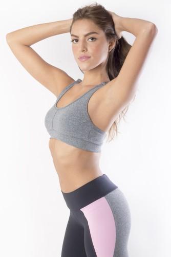 מוצרי ריו גים לנשים Rio Gym Sonia Bra Grey - אפור