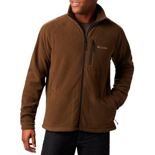 סווטשירט קולומביה לגברים Columbia Fast Trek II Full Zip Fleece - חום