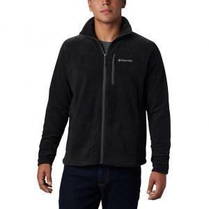 סווטשירט קולומביה לגברים Columbia Fast Trek II Full Zip Fleece - שחור מלא