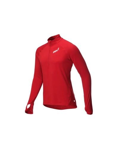 מוצרי אינוב 8 לגברים Inov 8 Long sleeve half zipped mid layer - אדום