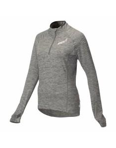 חולצת אימון אינוב 8 לנשים Inov 8 long sleeve half zip mid layer - אפור