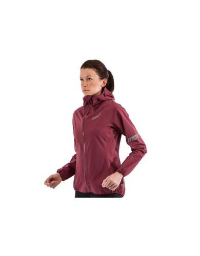 מוצרי אינוב 8 לנשים Inov 8 Stormshell waterproof running jacket - בורדו
