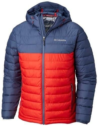 ביגוד קולומביה לגברים Columbia Powder Lite Hood - כחול/אדום