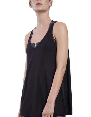 מוצרי לונקס לנשים Lynx Flow Black Top - שחור