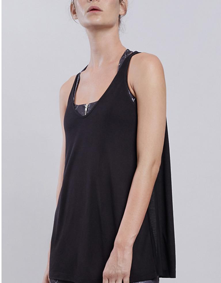 מוצרי Lynx לנשים Lynx Flow Black Top - שחור