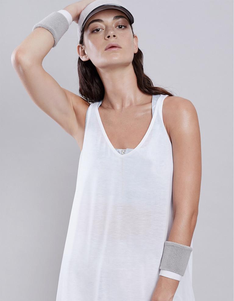 מוצרי Lynx לנשים Lynx Flow White Top - לבן