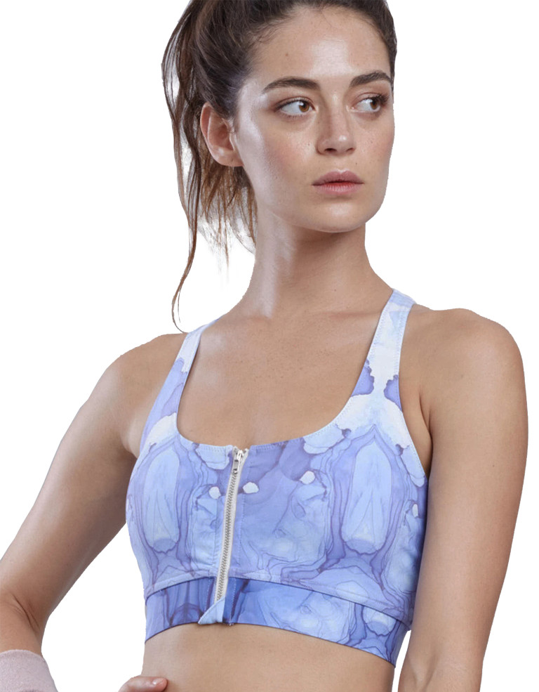 מוצרי לונקס לנשים Lynx Kiara Skydye Sports Bra - כחול/לבן