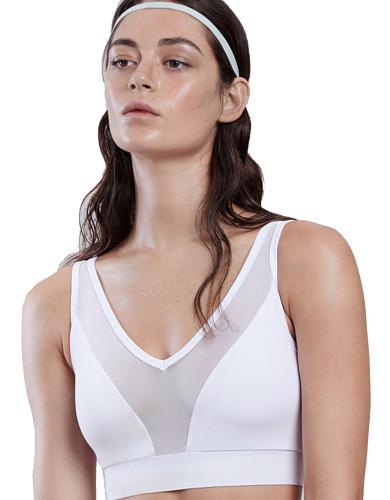 ביגוד לונקס לנשים Lynx Lushky White Sports Bra - לבן