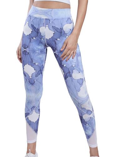 ביגוד לונקס לנשים Lynx Sky dye Leggings - כחול/לבן
