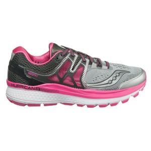 נעליים סאקוני לנשים Saucony Hurricane ISO 3 - אפור/ורוד