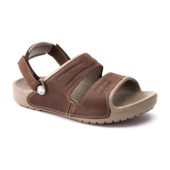 מוצרי Crocs לגברים Crocs Yukon Two strap Sandal - חאקי