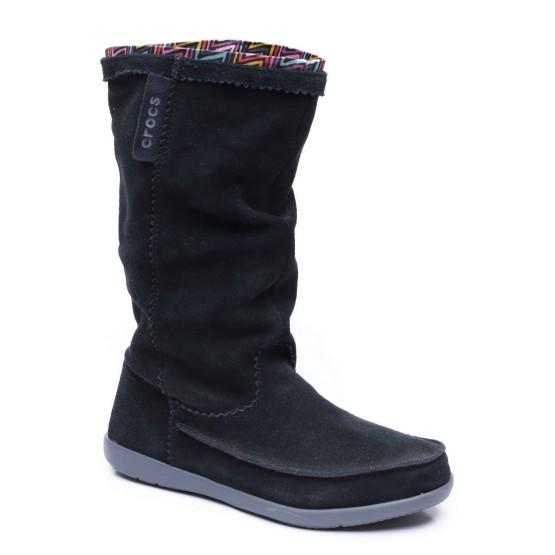 מוצרי Crocs לנשים Crocs Adela Suede Boot - שחור