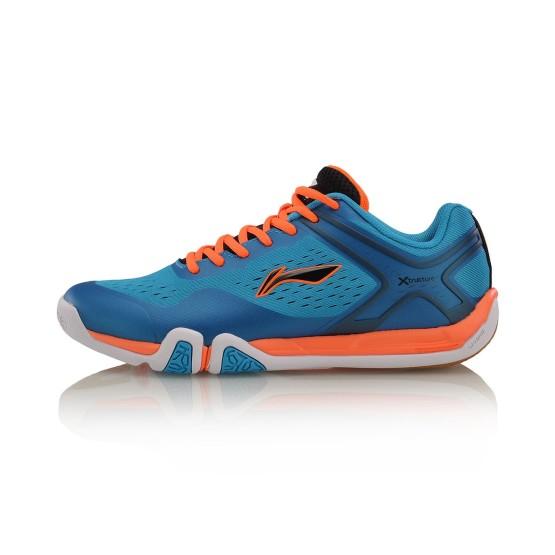 נעלי אימון לי נינג לגברים Li-Ning Badminton - כחול/כתום
