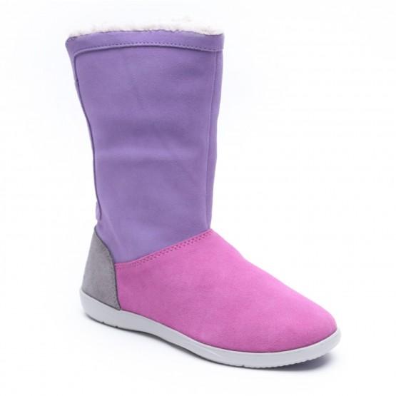מוצרי Crocs לנשים Crocs Adela Foldover Fuzz Bootie - סגול/צבעוני