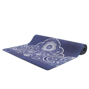 מוצרי YOGASTORE לנשים YOGASTORE Hot Yoga Mat - כחול/לבן