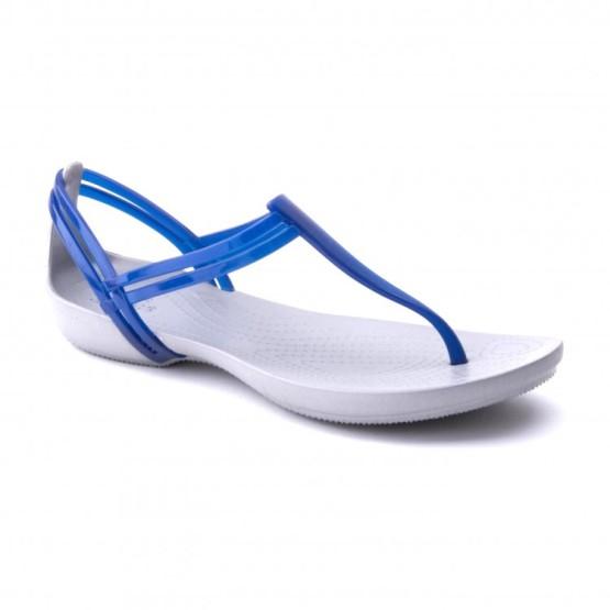 מוצרי Crocs לנשים Crocs Isabella Tstrap - כחול/לבן