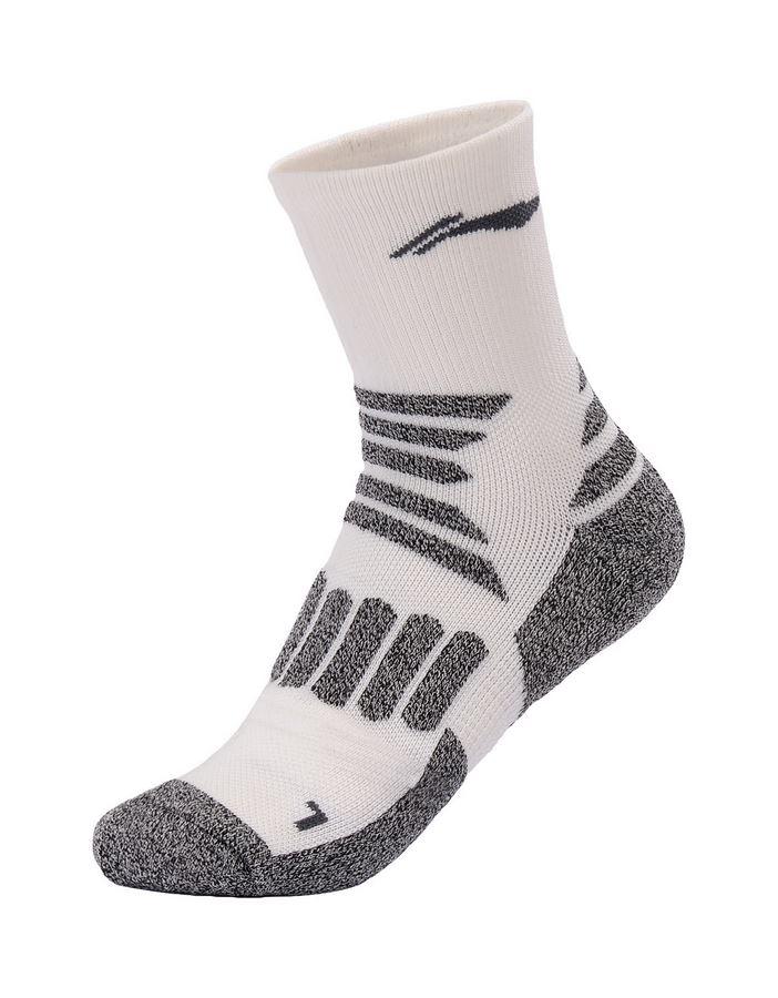 אביזרי ביגוד לי נינג לנשים Li-Ning Training Quarter  Socks - אפור/לבן