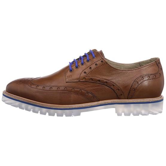 נעליים אלגנטיות נו ברנד לגברים NOBRAND Oak - חוםכחול