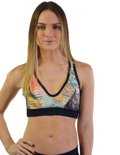 ביגוד ריו גים לנשים Rio Gym Sports Bra - צבעוני בהיר