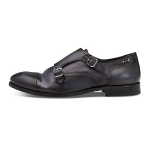נעליים אלגנטיות פיוקו נרו לגברים FIOCCO NERO MONKS 573 - אפור