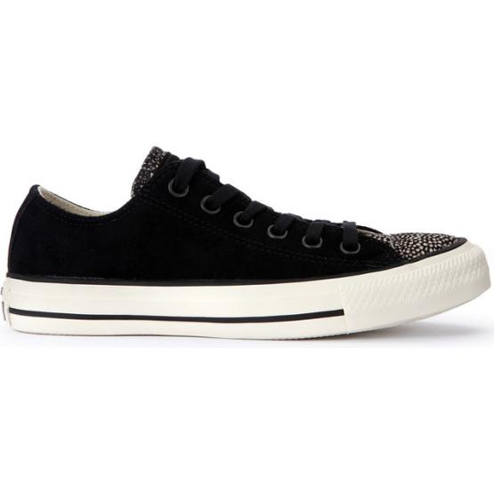 נעלי הליכה קונברס לנשים Converse Chuck Taylor Low Top - שחור/כסף