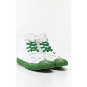 נעלי הליכה קונברס לנשים Converse Chuck Taylor High Top - לבן/ירוק