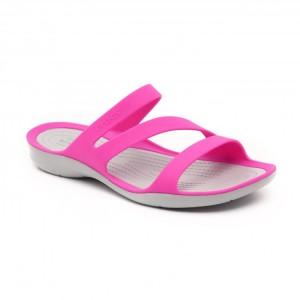 מוצרי Crocs לנשים Crocs Swiftwater Sandal - אפור/ורוד