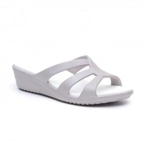 מוצרי Crocs לנשים Crocs Sanrah Strappy Wedge - אפור בהיר