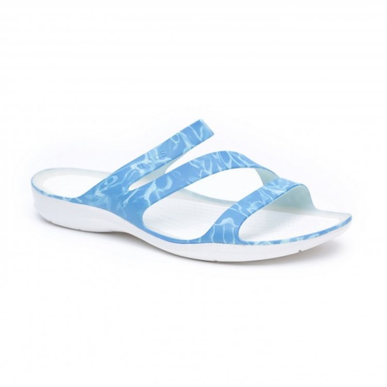 מוצרי Crocs לנשים Crocs Swiftwater Sandal - כחול/לבן